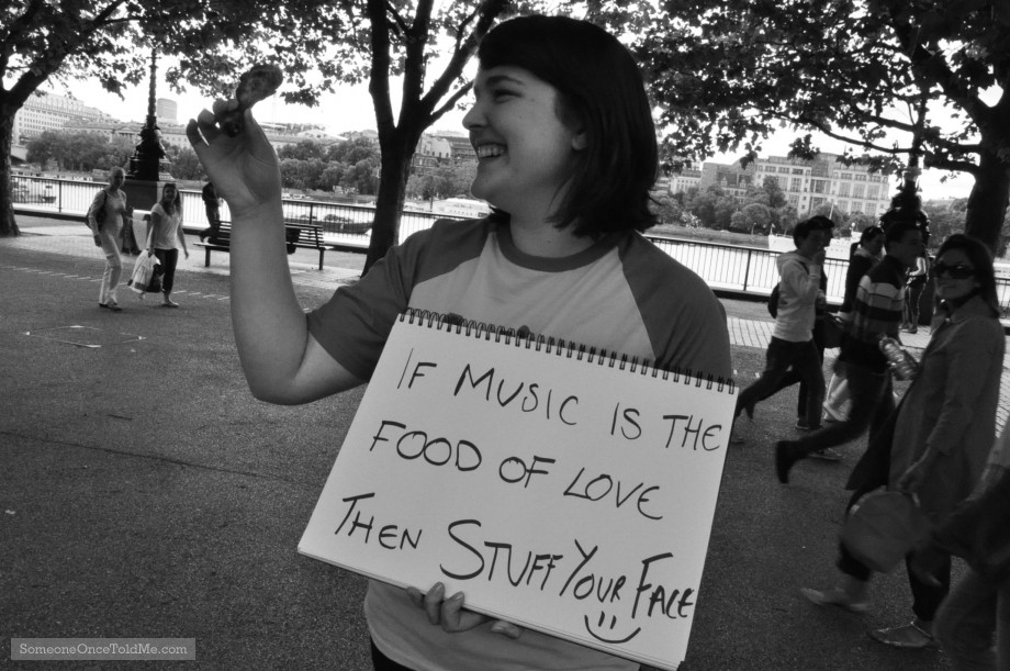 If Music Is The Food Of Love, Then Stuff Your Face